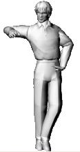 man standing 3d