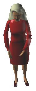 woman standing 3d