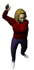Woman Waving 3D
