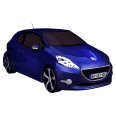 car revit 3d object peugeot 208