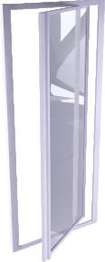 Supra Porte P porte pivotante 90 cm