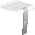 ARSIS shower seat, White & Mat Grey - 047731