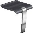 ARSIS shower seat, Anthracite grey & Mat grey - 047734