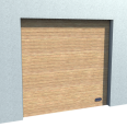 industrial grooved door golden oak normal and high lift