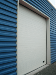 industrial grooved door ral 9010 vertical lift