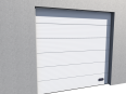 industrial micro grooved door ral 9010 vertical lift