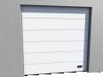 industrial veined wood door ral 9010 vertical lift