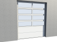 industrial glazed panel door 02 vertical lift