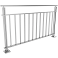 balustrades with bars under intermediate rail