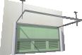 013 Porte basculante SAFIR S400 tole lisses avec vantelles