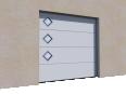 001 Porte sectionnelle ASTEC Serena micro rainuree avec hublots