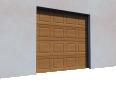 005 Porte sectionnelle ASTEC Serena avec cassettes en chene dore