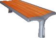Vesta wood backless bench