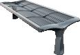 Vesta mesh backless bench