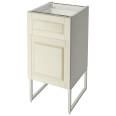 METOD Base Cabinet with Wire Baskets White Bodbyn Off White