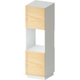 metod high cabinet for fridge with 2 dorrs white torhamn ash
