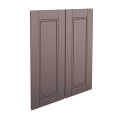 laxarby 2 door corner base cabinet set black brown