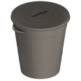 knodd dust bin with lid