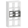 kallax shelf with 2 accessories white