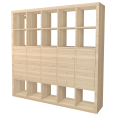 kallax shelf with 10 oak effect accessories