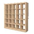 kallax whitened oak effect shelf