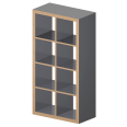 KALLAX Etagere gray Wood effect