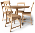 Leksvik Drop Leaf Table and Chairs
