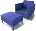 karlstad footstool and armchair
