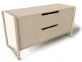 anes chest of 2 drawers brich veneer