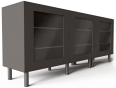 besta storage combination with doors black