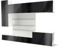 besta tv panel with media storage black