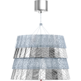 Tuile De Cristal Ceiling Medium size Frozen Silver