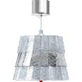 Tuile De Cristal Ceiling Small size Frozen Silver