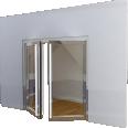 Porte vitree EI60 NEO 2 vantaux Simple action ou va et vient