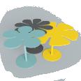 Matiere Grise Table Basse Fleur Bora