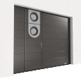 porte sectionnelle avec un portillon
