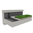 Green roof Canopia Vegetapis multi use Silver concrete