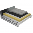 non-accessible insulated roof under ballasted gravels on plain steel deck - buildings with high hygrometry