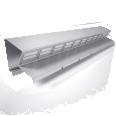 bandeau de faitage ventilee  bfv2  hauteur 40