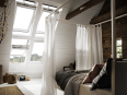 fenetre de toit motorisee velux integra® finition blanche
