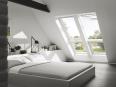 fenetre de toit fixe pour verrieres planes blanche