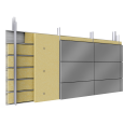 double skin with steel alu cassettes trays spacers insulation