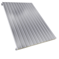 Steel facings s with panel roofing mineral wool core