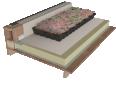 sarnapack sur sarnafil tg 66 f, éléments porteurs en tôles d'acier nervurées ou bois