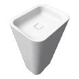 EMERSO Freestanding washbasin 420x520