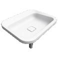 EMERSO Built in washbasin 420x520