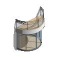 Lumicene Modèle applicable en maison individuelle toiture terrasse sans poteaux
