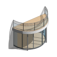 lumicene modèle applicable en maison individuelle toiture terrasse avec poteaux