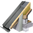 angled standing seam roof (530 mm, prepatina graphite-grey)