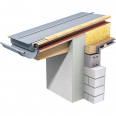 double standing seam roof (530 mm, prepatina blue-grey)